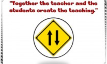 Together the students and the teacher create the teaching