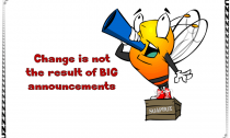 Change is not the result of BIG announcements