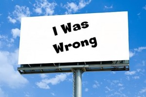 I was wrong billboard