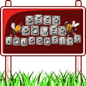 Peer Power Nonprofits road sign