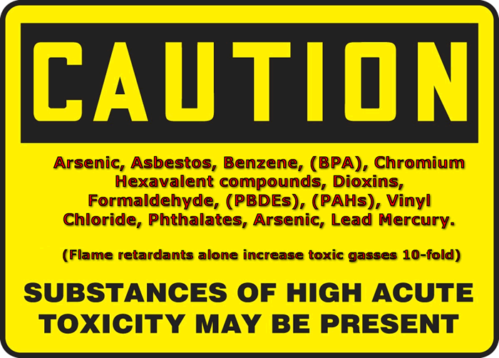 List of cancerous chemicals in smoke